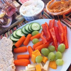 Healthy late night snack platter! Yum! I make this at least 3x week.