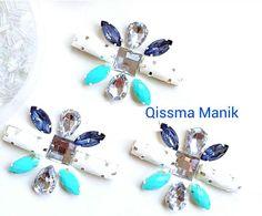 Harga Set Chunky Beads bergantung kepada design atau pattern.  Harga yang di paparkan adalah harga runcit untuk belian secara borong bol... Couture Embroidery, Embroidery Jewelry, Ribbon Embroidery, Hand Embroidery Videos, Embroidery Techniques, Beading Patterns, Embroidery Patterns, Diy Lace Ribbon Flowers, Chunky Beads