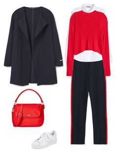 """""""Unbenannt #53"""" by yelena-lorich ❤ liked on Polyvore featuring adidas, Kate Spade, MANGO and H&M"""