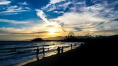 Top 10 Los Angeles Locations for Sunset Photographs. Here: Sunset at the Santa Monica Pier