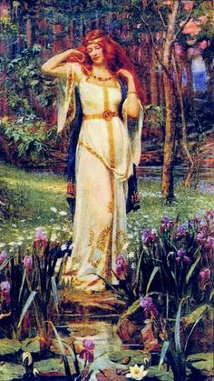 Freya and the Necklace . Freya goddess of love, beauty, gold, fertility, war . Norse mythology J Doyle Penrose Norse Goddess Of Love, Celtic Goddess, Earth Goddess, Celtic Mythology, Goddess Art, German Mythology, Beautiful Goddess, Symbole Viking, Mother Goddess