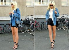 The Trend Spotter: How to wear denim or white lace shorts