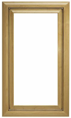Mitered Solid Catalina Paint Grade Poplar Frame With MDF Panel Glass    Glass Panel   Catalina
