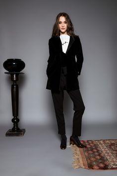 Minimaliste cardigan by Celeni Velvet Cardigan, Black Cardigan, Straight Cut, Style, Fashion, Minimalist, Swag, Moda, Fashion Styles