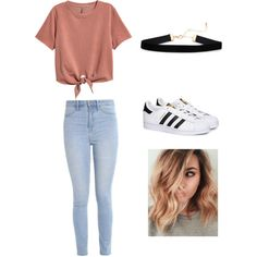 A fashion look from April 2017 featuring H&M t-shirts, Hollister Co. and adidas sneakers. Browse and shop related looks.