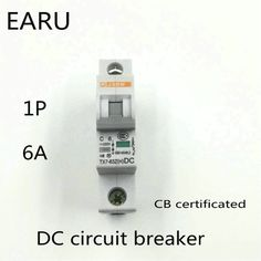 1P 6A DC 250V DC Circuit Breaker MCB for PV Solar Energy Photovoltaic System Battery C curve CB Certificated Din Rail Mounted