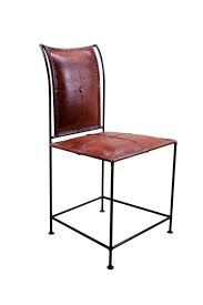 Image result for iron leather chairs