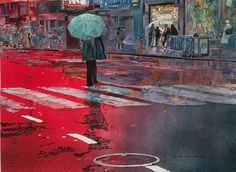 John Salminen's Watercolor Paintings of Urban Landscapes ~ Crack Two