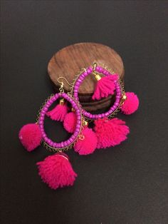 This lovely funky pink jhumkis makes your look attractive