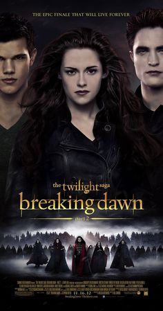 Directed by Bill Condon.  With Kristen Stewart, Robert Pattinson, Taylor Lautner, Peter Facinelli. After the birth of Renesmee, the Cullens gather other vampire clans in order to protect the child from a false allegation that puts the family in front of the Volturi.