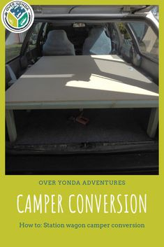 How to build a station wagon camper conversion for less than $2,500! We show you how to convert your station wagon into a camper ready for a road trip. Build your own station wagon tiny house for under $2,500. Camping Spots, Camping Guide, Diy Camping, Camping Hacks, Adventure Campers, Adventure Travel, Double Bed With Storage, Small Tent, Sports Wagon