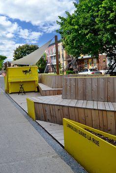 Stationnement pour piétons par Groupe A /Annexe U, Limoilou, Québec. Photo : Jérôme Laferrière.