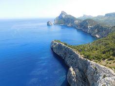 Mediterranean Sea with limestone mountains,Mallorca,Spain