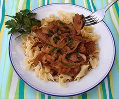 Beef Stroganoff With Cremini & Porcini Mushrooms. Uses 1 lb beef tenderloin, cut into strips