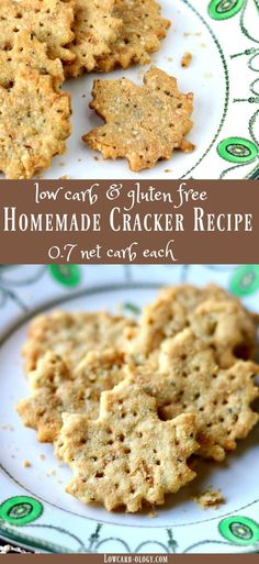 Simple low carb homemade cracker recipe is Atkins friendly and gluten free. Just 0.7 net carbs! lowcarb-ology.com via @Marye at Restless Chipotle