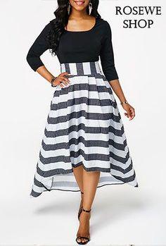 Asymmetric Hem Scoop Neck Zipper Side Maxi Dress. rosewe dress Abiti Per Il d57db77cc7b