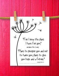Jeremiah 29:11 Dandelion Art - Bible Verse Art - Scripture Art