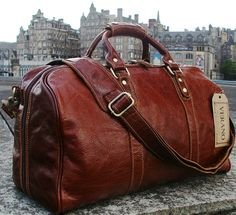 *NEW LEATHER ITALIAN DUFFLE WEEKEND TRAVEL FLIGHT SHOULDER BAG HOLDALL MENS GIFT | eBay