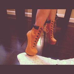 spiked timberland heels beyonce