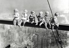 "Tribute to one of New York City's most famous photographs ""Lunch Atop A Skyscraper"""