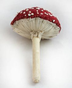 Toadstool / Fungi / fly agaric Textile Sculpture by Emma Hall