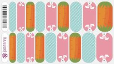 Jamberry Nail Wraps - Get Hoppy - I just love the bunny! :D