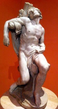 La escultura de Bernini Gianlorenzo # de #St #Sebastian en el Museo Thyssen-Bornemisza de Madrid, España.  Wikipedia: