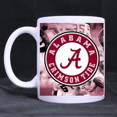 Custom NCAA Alabama Crimson Tide White Ceramic Mug Coffee Tea Milk Mug(11oz) for Perfect Holiday or Birthday Gift *** Check this awesome product by going to the link at the image. (This is an affiliate link and I receive a commission for the sales) #Pets