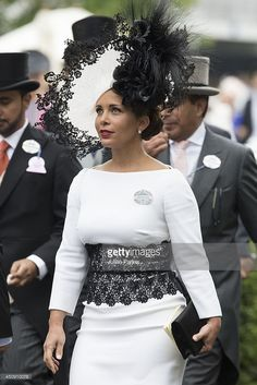 Princess Haya Bint Al Hussein attends Day 3 of Royal Ascot at Ascot Racecourse on June 19, 2014 in Ascot, England. (Photo by Julian Parker/UK Press via Getty Images)