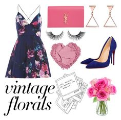 """""""#145"""" by ines-margarida1 ❤ liked on Polyvore featuring AX Paris, Christian Louboutin, Yves Saint Laurent and KaBloom"""