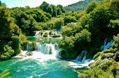 #Waterfalls in #Krka National Park, #Croatia