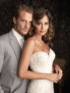 All S13-4, Allure wedding gown.  Bridal gown.  All lace fitted mermaid gown.  Princess Brides.