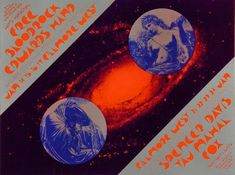 Rock Posters, Band Posters, Music Posters, Fillmore West, Spencer Davis, Free Postcards, Vintage Concert Posters, Moon Shapes, Triptych