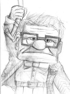"Behind-the-Scenes: Walter Matthau & The Making of Pixar's UP (2009) Excerpt from filmmakers interview: ""The lead character in the movie is a cranky 78-year-old man called Carl – and a lot of time went into creating his animated appearance. When we started animating Carl, we looked at a lot of older people for inspiration,"" reveals character designer, Daniel Lopez. ""We drew inspiration from actors from the past like Walter Matthau."" (to read more of the article, click the photo)."