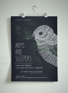 Series of posters created for American post-rock band Arms and Sleepers by Ooli Mos & Anton Abo.