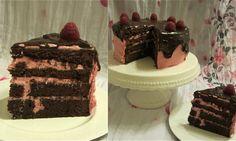 Himbeer-Brownie-Torte