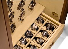 German luxury safes by Doettling to safely secure, store and wind your watches. From Lisa Adams, LA Closet Design
