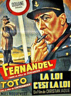 "The Law Is the Law (1958) ""La legge è legge"" (original title) Stars: Fernandel, Totò, René Génin ~  Director: Christian-Jaque (Nominated for the Golden Berlin Bear at the Berlin International Film Festival 1958) (French Poster)"