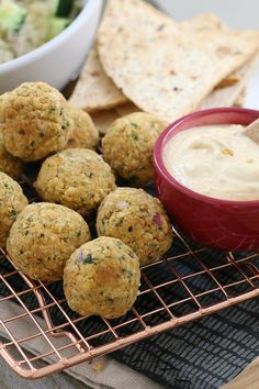 Deliciously healthy oven baked falafel balls made from chickpeas and baked to perfection. Serve with hummus and tabbouleh for a yummy and nutritious family meal! #falafel #ovenbaked #balls #healthy #kids #recipes #best #easy #thermomix #conventional