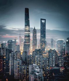 Shanghai by Juampi* Urban Photography, Amazing Photography, Cityscape Photography, Time Photography, Shanghai Skyline, Cities, City Aesthetic, Belle Villa, China Travel
