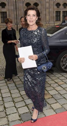 Princess Caroline of Monaco Event: Charity Dinner organized by the Roland Berger, Munich (Germany) Foundation.