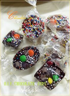 D.I.Y. Chocolate with sugar beads & M&M..