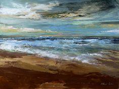 "Saatchi Online Artist Eva Czarniecka; Painting, ""Beach Scene "" #art"
