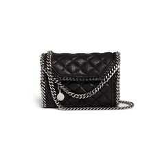 Stella Mccartney 'Falabella' tiny quilted crossbody chain bag (3.265 BRL) ❤ liked on Polyvore featuring bags, handbags, shoulder bags, purses, bolsas, black, evening handbags, handbags purses, purse crossbody and purse shoulder bag