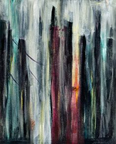 Title: Abstract City II    Description: Gallery Wrapped Canvas Giclee Print - Original Sold    Size: 16x20    Medium: Acrylic Original, Giclee Print    Features: Gallery Wrapped    Shipping/Handling: ships anywhere boxed and packaged carefully, project mary is not responsible for items damaged during shipping - please follow up with shipping company    Taxes and Duties: taxes and duties are the responsibility of the purchaser and are not included in the purchase price    Standing Art vs…