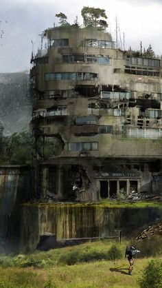 scouting the ruin | #cyberpunk #scifi #darkfuture #bravenewworld
