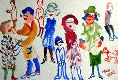Posing Watercolour 14 x 18 cms