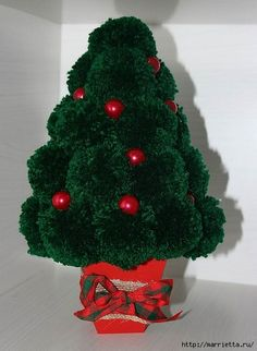 Árboles de navidad y muñecos de nieve de pompones (11) (429x586, 152KB)