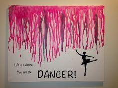 Dancer melted crayon art