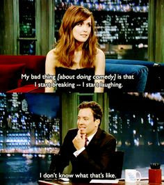 Ahaha, I'm sure! Jimmy Fallon always breaks but that's the funniest part!